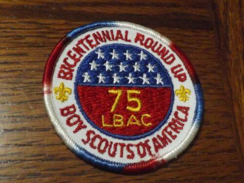 BOY SCOUT PATCH 1975 LBAC LONG BEACH AREA COUNCIL BICENTENNIAL ROUND UP