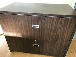 2 Drawer File Cabinet with Key and Hangers included