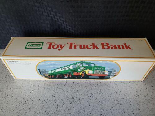 Vintage Hess 1984 Toy Truck Bank Gasoline Tanker Original Box