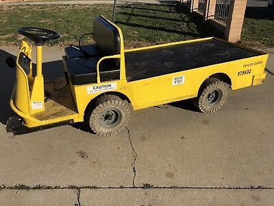2013 Used Taylor Dunn B2-48 Industrial Flatbed Electric Utility Cart