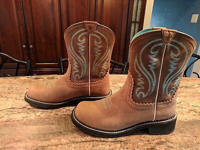 10014080 Ariat Womens Fatbaby Western Cowboy Boots Heritage Brown Tan Rowdy 10 B