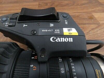 Canon YH19x6.7 KRS Ix12 Lens IF 19X Zoom Lens As-is for parts.