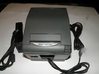 Star Tsp700ii Tsp743ii Thermal Ethernet Pos Receipt Printer With Power Supply