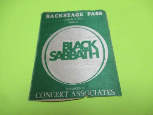 VINTAGE 1972 BLACK SABBATH BACKSTAGE TOUR PASS THE FORUM