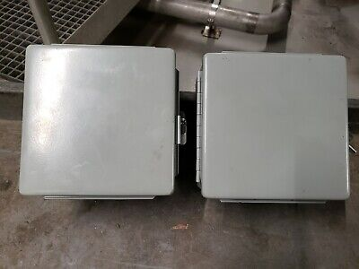 Hoffman A606ch Hinged Cutout Box Electric Box Type 12 Lot Of 2