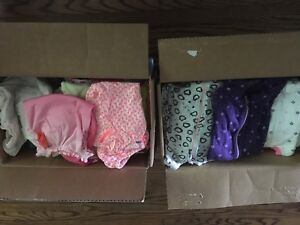 2 boxes of 0-3month girls clothing