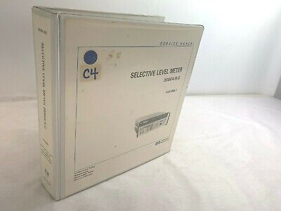 Hp 3586abc Selective Level Meter Service Manual Volume 1 Pn 03586-90002 6407