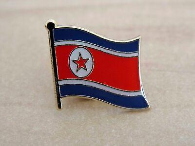 - North Korea Flag Country Metal Enamel Lapel Pin Badge