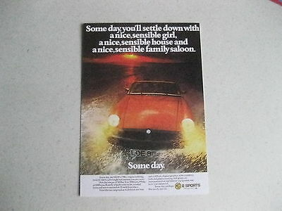 MG MGB ROADSTER LATE TYPE CLASSIC CAR POSTCARD OF AN ORIGINAL ADVERT 1975 NEW