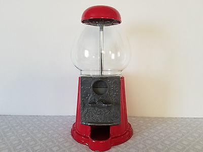 Rare Vintage Red 1985 Carousel Bubble Gum Ball Candy Coin Machine Portable Bank