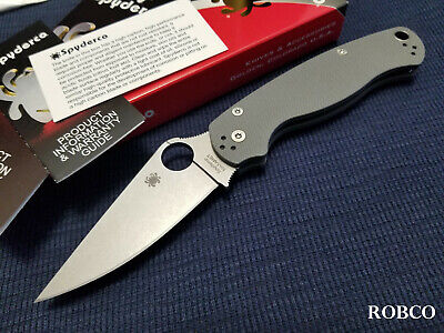 Spyderco Paramilitary 2 Maxamet CQI 2020 Production, Dark Gray G10 - C81GPDGY2