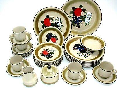 EUC Vintage Bristol Stoneware Apple Harvest Festival N-1170 Japan 32 Pieces  Apple Harvest Festival
