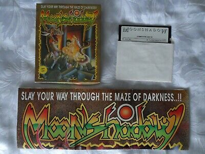 Moonshadow Commodore C64 1990 Disk Game by Idea Complete and Original Rare?