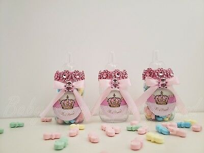 12 Baby Shower Princess Favor Bottles Prizes Games It's a Girl Pink Decorations - Princess Baby Shower Games