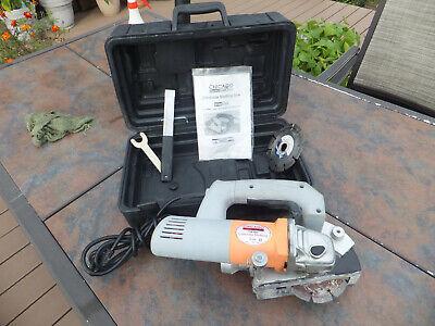 Chicago Electric 93009 Concrete Slotting Saw 120v W Blade Case More