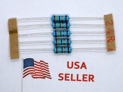 1w 1 Watt 1 Tolerance Metal Film Resistor 5 Pieces Usa Seller