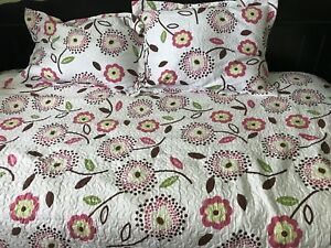 Double comforter And 2 matching pillow shams