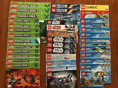LEGO Lot of 38 manuals - MANUALS ONLY. Star Wars, Minecraft, Nexo Knights, etc.