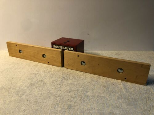 """ROUSSEAU CO. Router Table Fence Guide w/ Vacuum Port Red 24"""" Rail"""
