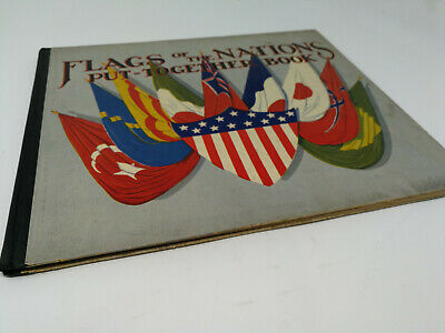 Flags Of The Nations (1931 Flags of the Nations Put-Together Book RARE Sam Gabriel New York)