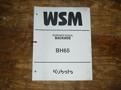 Kubota Bh65 Backhoe Shop Service Repair Manual