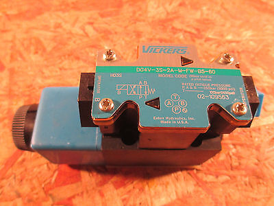 Vickers Dg4v 3s 2a M Fw B5 60 Solenoid Directional Control Valve Nos