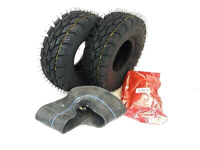 Pair of (4.00-5) 4ply tyres & Tubes for Multi turf grass - lawn mower 400x5