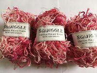 LOT of 10 Crystal Palace Yarns Squiggle #9298 Code Pink Pig-Tail Eyelash