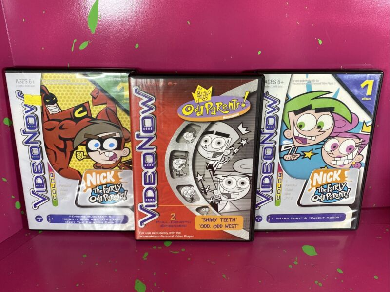 The Fairly Odd Parents Video Now PVD Lot Of 3