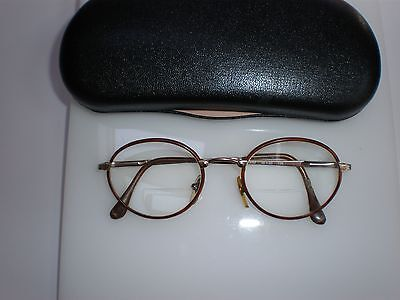 VINTAGE BYBLOS EYE GLASS FRAMES HARRY POTTER LOOK UNISEX MADE IN ITALY