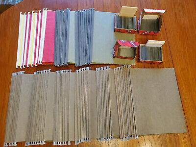 Lot Of 88 Hanging File Folders 75-3 Metal Tabs 14-2 Metal Tabs