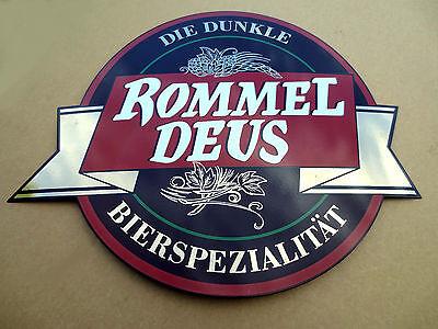Rommel Deus dunkel Bier Schild Emailschild Emaille Emailleschild Schild Emaile 1