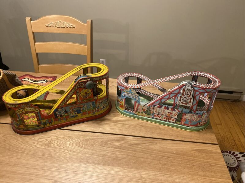 2 Vintage J. Chein Tin Roller Coasters ****Heres The Deal****