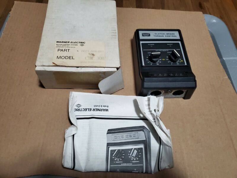 Used Warner CBC300 6021-448-001 Clutch-Brake Torque Controller Assembly