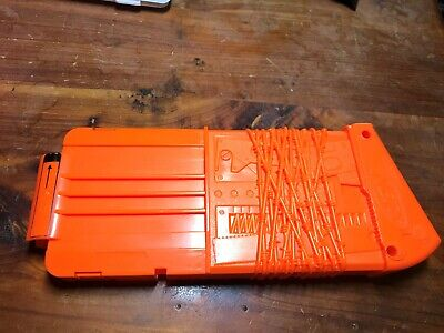 NERF 10 Dart Ammo Cartridge Magazine Orange Longstrike Clip