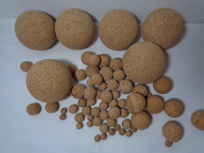 - Natural Cork Floating Pop Balls Coarse Fishing Universal Accessories 10 30 70mm