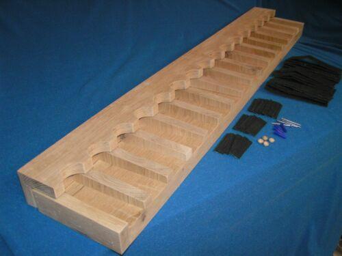 14 gun - wood closet gun rack with floor base- Solid Oak