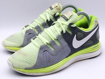 NIKE Women's Running Shoes Lunarflash Trainers Size US 6 Yellow Grey 580397-710