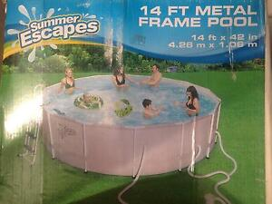 Above ground metal frame Summer Escapes Swimming Pool Athelstone Campbelltown Area Preview