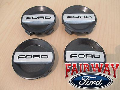 "15 thru 18 F-150 OEM Ford Wheel Rim Black Center Caps RAPTOR  4-pc Set - 2-5/8"""