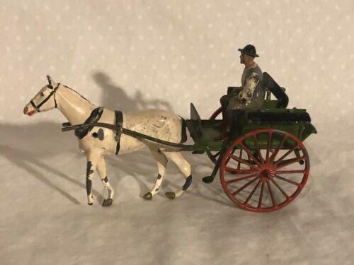 Britains Farmers Gig Vintage Lead Toy Set Farm Wagon