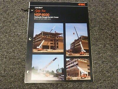 Link Belt Hsp-8030 Rough Terrain Crane Specification Lifting Capacities Manual