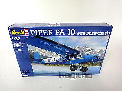 NEU/OVP Revell Piper PA-18 with Bushwheels Plastik Modellbausatz 1:32 Flugzeug