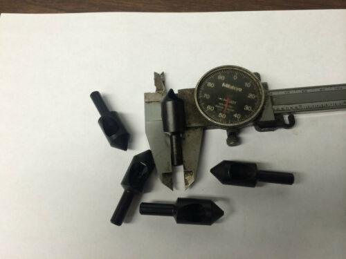 5 pcs ZERO FLUTE Weldon Style 82 degree Countersink Tool