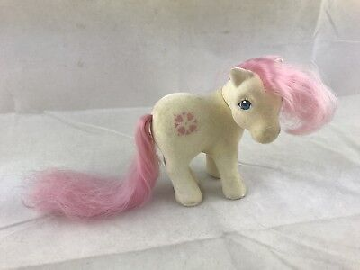 Vintage My Little Pony G1 SUNDANCE So Soft 1983 MLP White, pink - My Little Pony Sundance