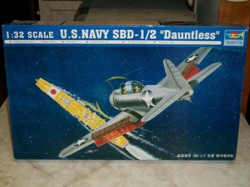 """Trumpeter 1/32 Scale U.S. Navy SBD-1/2 """"Dauntless"""""""