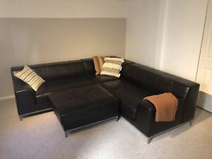 Like New beautiful modern leather sectional!