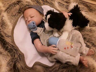Reborn boy doll with accessories