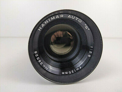 HANIMAR AUTO S 135mm f2.8 Manual Focus Lens 38528 w/ Lens Cap