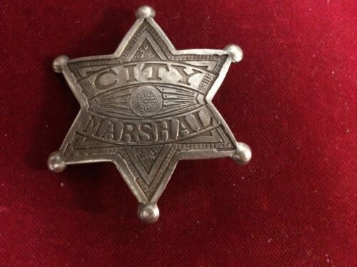 Badge: City Marshal star, Lawman, Police, Old West